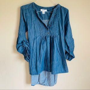 Motherhood maternity size med denim cotton Tunic